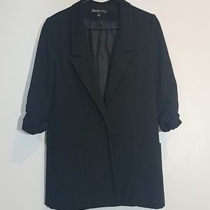 Elizabeth and James Rouch Sleeve Blazer Jacket